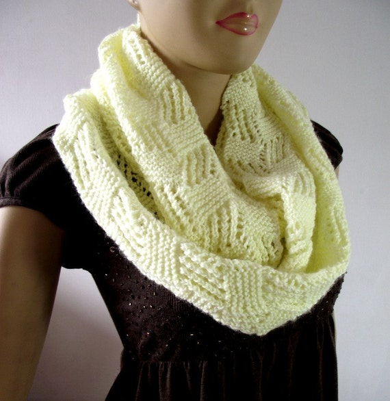 Knitting Pattern Infinity Scarf Straight Needles : KNITTING PATTERN SCARF Infinity Scarf Cool Breeze Scarf pdf pattern Instant D...