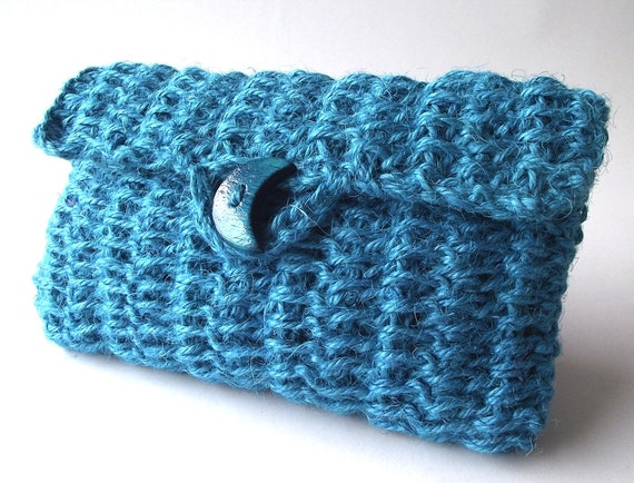 ... Instant Download Cosmetic Case Crochet Jute Bag Pouch Bag Simply Sweet