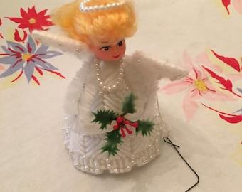 Vintage Christmas Angel Ornament Handmade Crochet