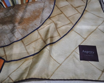 Authentic Asprey London Silk Scarf