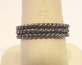 Sterling Silver Rope Rings R1709