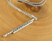 Flute Necklace Sterling Silver