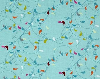Flow by Brigitte Heitland for Zen Chic and Moda - Splash - Turquoise - Teal - 1/2 Yard Cotton Quilt Fabric 516