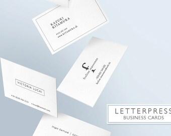 LETTERPRESS - LUXURY Business cards