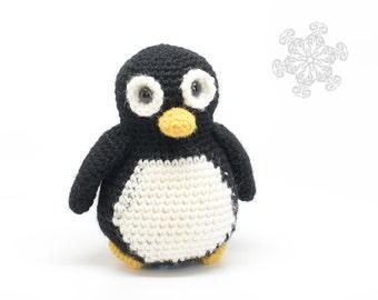 Cute Penguin Toy - Black And White Crochet Penguin