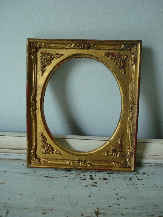 vintage ornate gold frame small picture frame small open frame. Black Bedroom Furniture Sets. Home Design Ideas