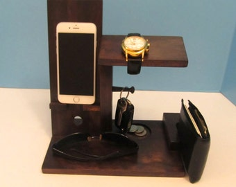 Wood iPhone Dock, Charging Stand, Modern, iPhone Accessories for the Home, iPhone 6, iPhone 5s, iPhone 5c,
