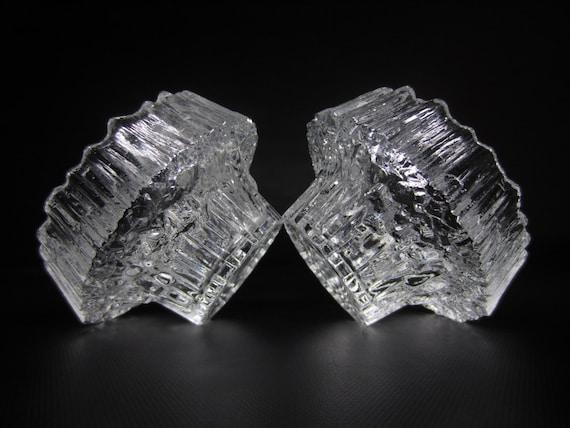2 Tapio Wirkkala Finland Crystal Stellaria Candleholder Votives