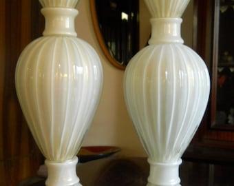 Murano glass lamps pair