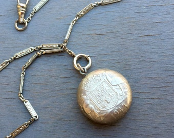 Vintage Watch Fob Chain Australian Florin Coin 1943 WWII Trench Art Mens Accessories Gift for Him