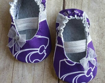 Kansas State Baby Mary Jane Shoes