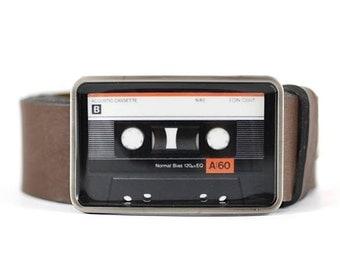Audio Cassette Belt Buckle, Cassette Tape Belt Buckle, Retro Belt Buckle, Music Belt Buckle