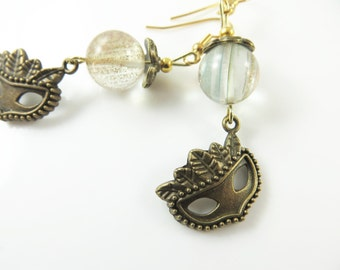Clearance - Masquerade mask earrings