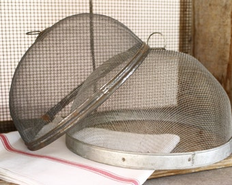 French Vintage Wire Cloches....TWO Cloches...Food Cloche...Food Safe....Nordic Living.
