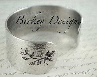 Custom Secret Message Hand Stamped Bracelet- Personalized Bracelet