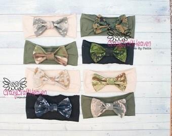 Military Bow, Army Acu USAF, usmc, us navy, Baby military headband, Camo bow, Military hair bow, Acu, Multicam, deployment, milso