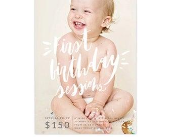 INSTANT DOWNLOAD - Cake Smash Marketing Board | Buttercream Laugh -  E1348
