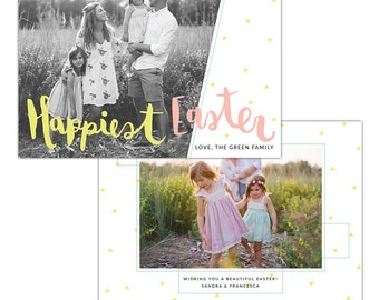 INSTANT DOWNLOAD - Easter photo card | Happiest Easter - E1266