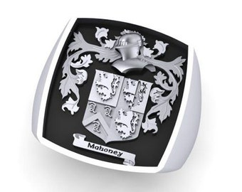Personalized Crest ring