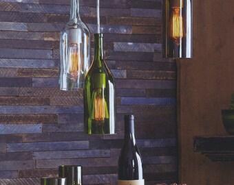 Lighting, Wine Bottle Lights, Lighting Fixture, Lights, Pendant Light, Upcycled Light