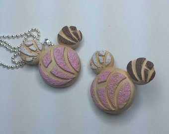 Mickey pan dulce - conchita mexican bread pin , or necklace