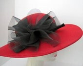 Red Hat Wool Wide Brim Party Made in USA Red Hatters