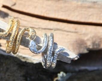 RattleSnake Lotus Ring