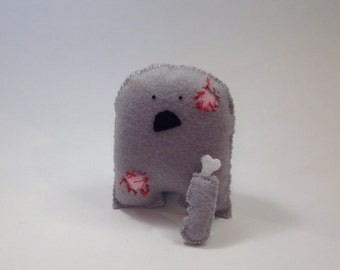Reggie the Zombie with arm!! Cute Handmade Monster - Undead / Walking Dead!