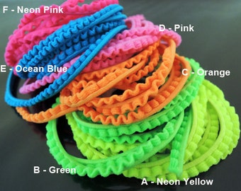 Elastic Cord 4mm - 6 Available Colour Soft Flat Stretch Elastic Drawcord Rope Cord with Cotton Cord ( 1 , 5 or 10 Yards )
