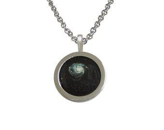 Bordered Milky Way Pendant Necklace