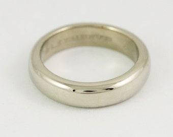 5x2.5mm 5mm Wide Half Round Wedding Band - 14k / 18k / 22k / 24k Solid Gold Ring - Mens Wedding Ring - Unisex Wedding Band