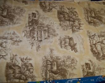 Wilderness Animal Cotton Fabric,Wilmington,1 yARD