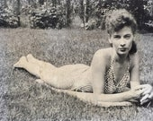 Original Antique Photograph The Sultry One 1948