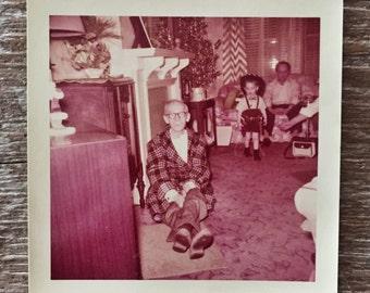 Original Vintage Color Photograph Strange Man 1956