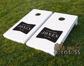 Bow Tie Monogram | Masculine | Manly | Wedding/Party Cornhole | Baggo | For Him & Her | Reception Game