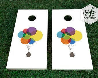 Cornhole Corntoss | Baggo | UP Movie | Colorful Balloons | UP Disney | Colored Balloons | Illustration | Minimalist | Kids Party | Children
