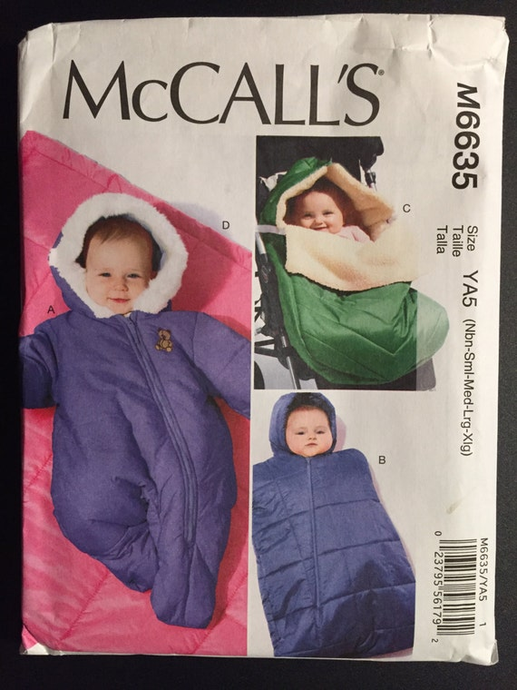 McCall's Sewing Pattern 6635 Uncut Infants Snowsuit, Bunting and Blanket Size Infant-XL