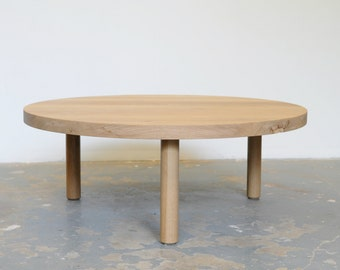FREE SHIPPING Round Coffee Table White Oak - Dylan Design Co.