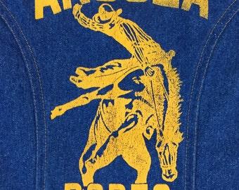 Bad ass vintage Angola Rodeo Wrangler denim vest