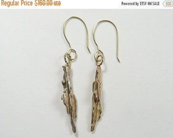 20% off: 14k Gold Designer Earrings, a handmade pair of artistic earrings, one of a kind.   Shipping discounts (j036)
