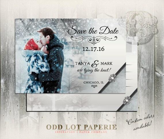 Winter Wonderland Save the Date Winter Wonderland PRINTABLE – Winter Wedding Save the Date