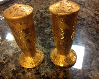 Gold Gilted Salt And Pepper Set
