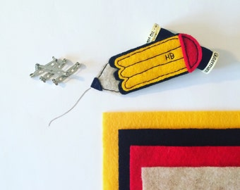 Custom Felt Pencil Brooch
