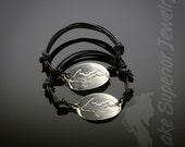 Sterling Silver UP - Upper Peninsula of Michigan Yooper Bracelet