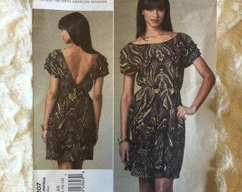 Vogue Womens Cynthia Steffe Dress Sewing Pattern 1207 Size 6-8-10-12  UC FF Uncut