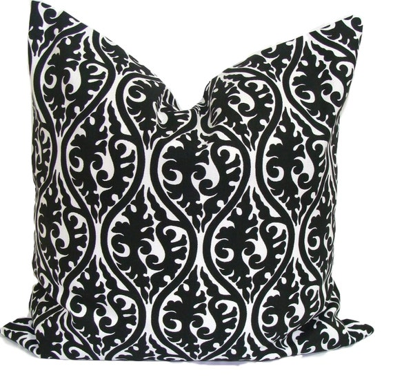 Decorative Throw Pillows Etsy : Black Pillows Pillow Cover Decorative Pillow Throw Pillow
