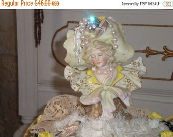 SUMMER SALE SALE.....Ooak Marie Antoinette Bust , Shabby chic, French Boudoir, French Country, Victorian Dresser