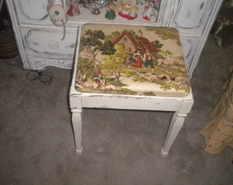 OOAK Vintage Sewing Bench, French Country, French Farmhouse, French, Country Cottage