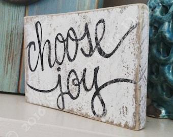 Choose joy sign, wood signs, shelf sitter, wood block signs, wood signs sayings, wood signs home, gallery wall signs, choose joy wood sign