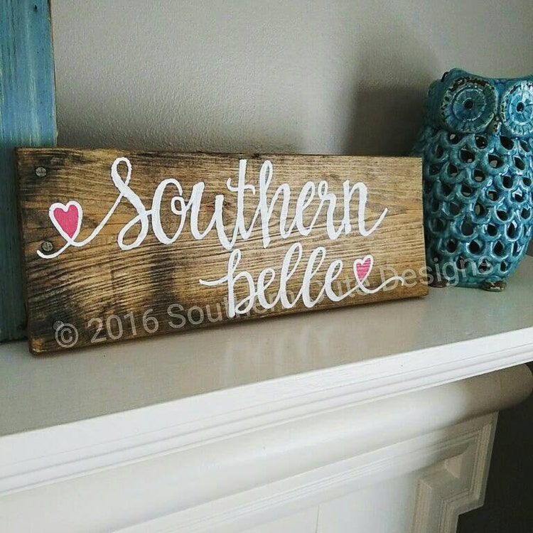 Ratings Feedback For Gavan Wood Painting Decorating: Southern Belle Sign Wood Signs Southern By Southerncutedesigns